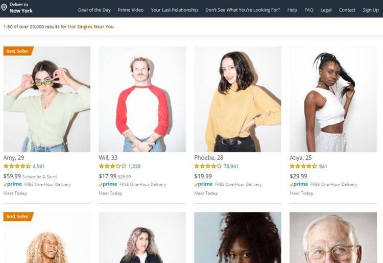 Amazon Dating Brings Just the Right Amount of Irony this Valentine's Day