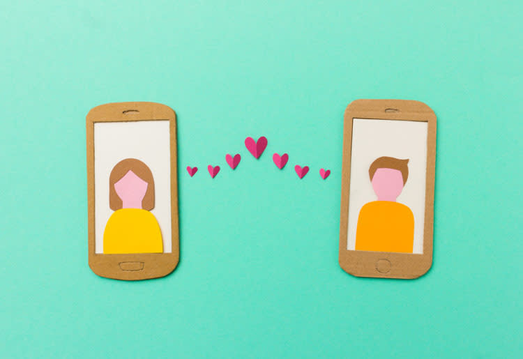 Online dating - love at first swipe