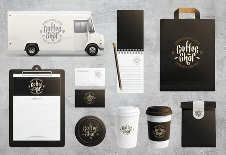 Mockup of promotional products