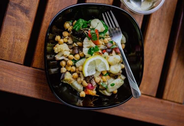 Vegan plant-based food on a plate