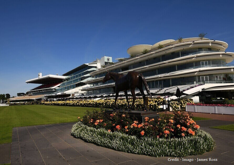 Flemington Racecourse with the new main stand