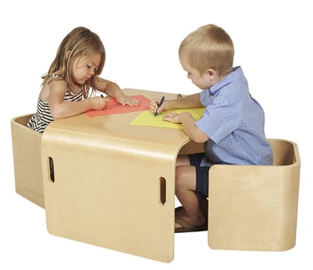 ECR4Kids Bentwood Multipurpose Kids Table and Chair Set