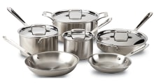 All-Clad Brushed Stainless Steel 10-pc Set