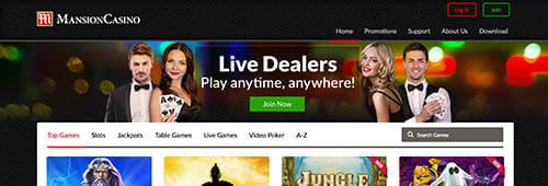 Start playing today at Mansion Casino