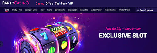 Start your online casino experience with Party Casino