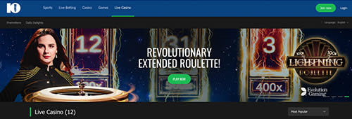 Start your casino experience at 10Bet today