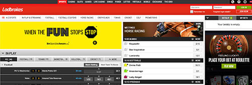 Place your sports bets at Ladbrokes