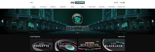 Sky also has a first-rate online casino