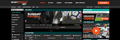 Bet on football and more at SportNation.bet