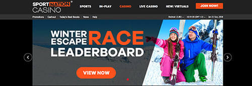 Try your hand at some of SportNation's casino games