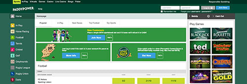 Paddy Power is well-known for its sports betting site