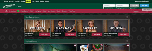 Be sure to check out Paddy Power's casino site