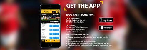 Betfair has a highly-rated mobile app