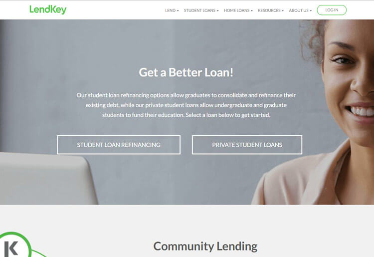 LendKey Homepage