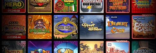 Range of casino games