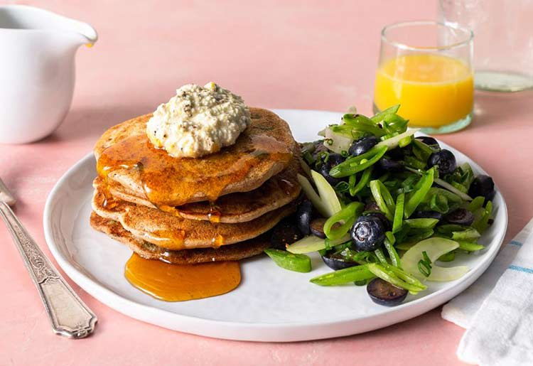 Sun Basket Review - Savory sweet pea pancakes