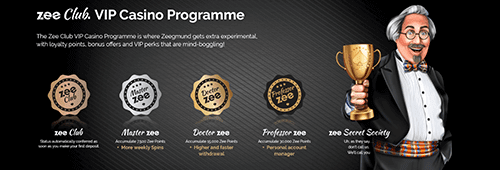 Zee Club. VIP Casino Programme