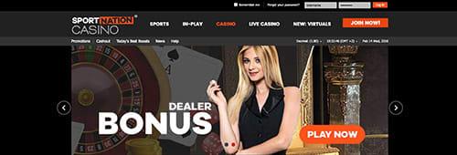 Explore SportNation's great online casino