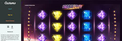 Casumo's Flash-based casino software