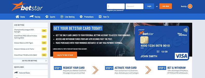 Betstar Landing page