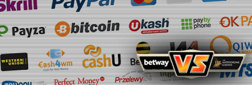 Both Betway and Hippodrome offer various payment methods, including credit cards, Paysafecard and PayPal