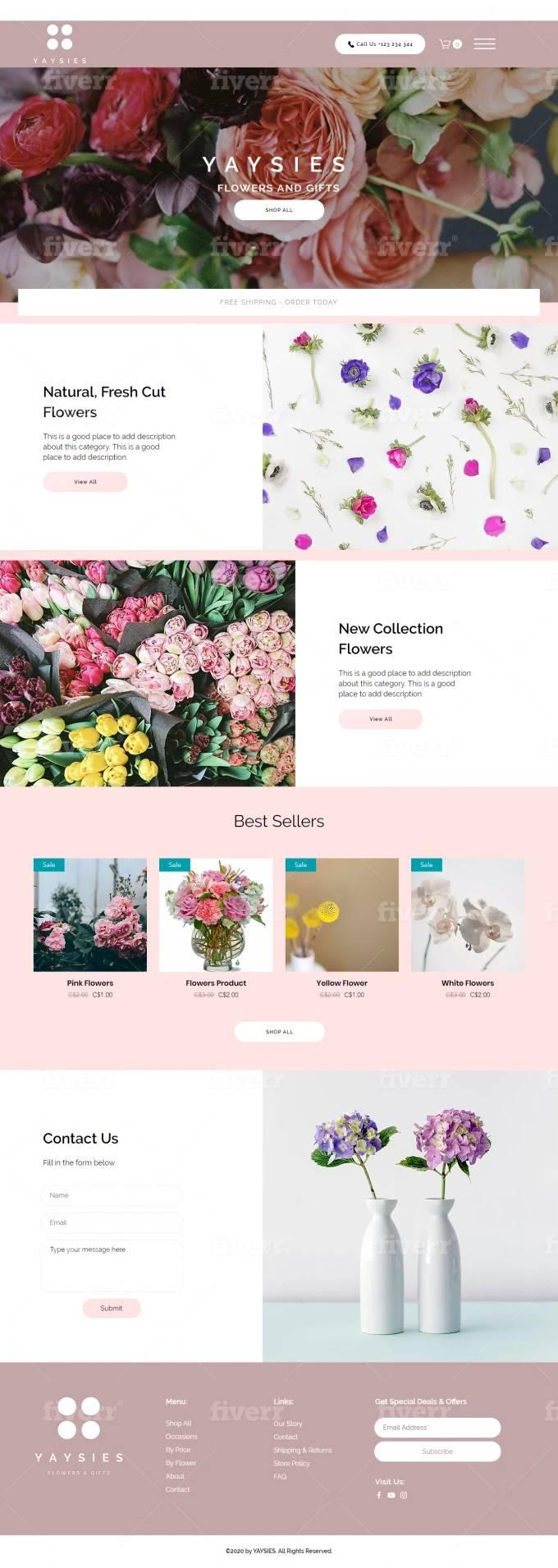 Website designed by Fiverr designer