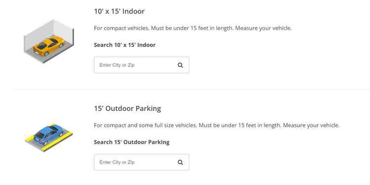 Life Storage vehicle storage options