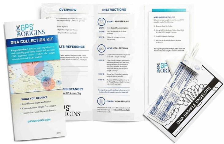 GPSorigins sample kit