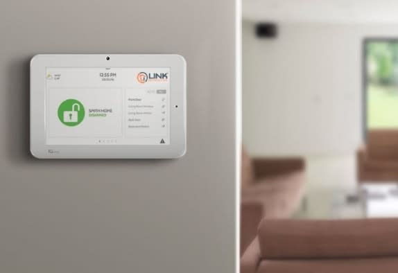 Link Interactive home security panel