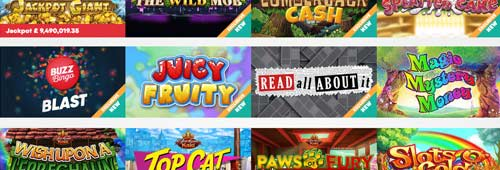 Play our wide variety of games at Buzz Bingo