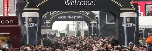 The Guinness Village at the Cheltenham Festival