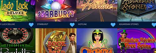 Choose from more than 300 games at Lucky VIP Casino