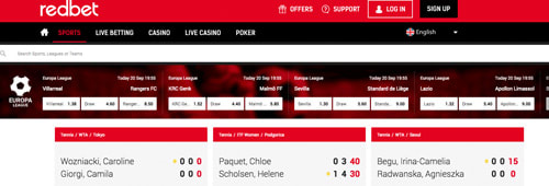 Try your hand at sports betting with Redbet, too