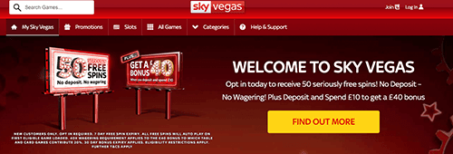 Welcome to Sky Vegas