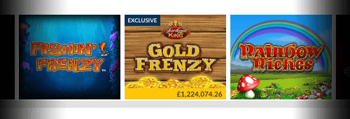 There's a wide range of games available