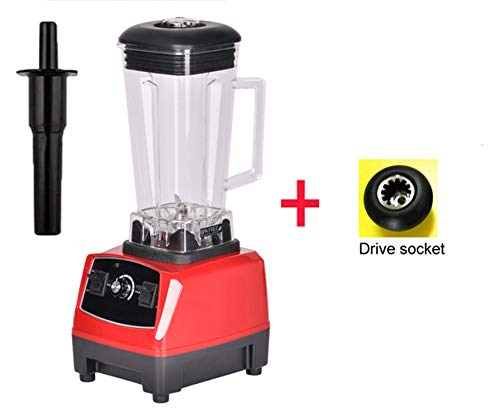 2200W 3Hp 2L G5200 High Power Commercial Home Professional Smoothies Power Blender Food Mixer Juicer Fruit Processor,Red Extra Driver,Eu Plug
